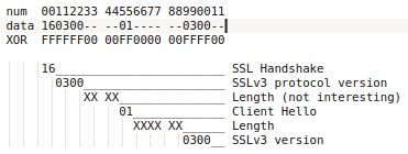 Data and offsets for fields in SSLv3 Client Hello payload